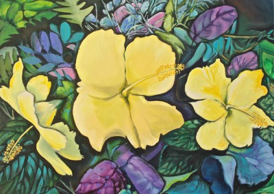 Yellow Hibiscus, 22 x 28