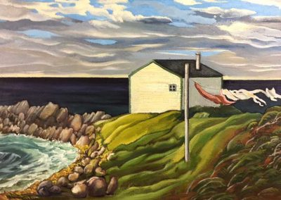 Laundry, Broom Point, Gros Morne, Newfoundland | 22 x 32 | sold