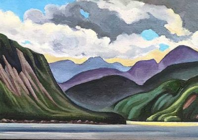 On Hwy 430, Gros Morne, Newfoundland | 11 x 32 | sold