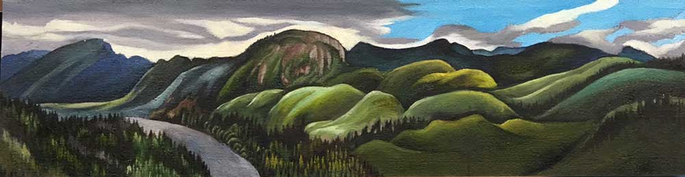 On Hwy 430, View To The East, Gros Morne, Newfoundland | 10 x 22
