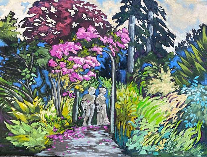 Joanna's Garden | 18″ x 24″ Oil on Canvas